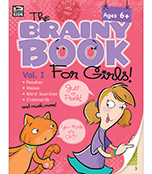 Brainy Book for Girls, Volume 1 Activity Book Product Image
