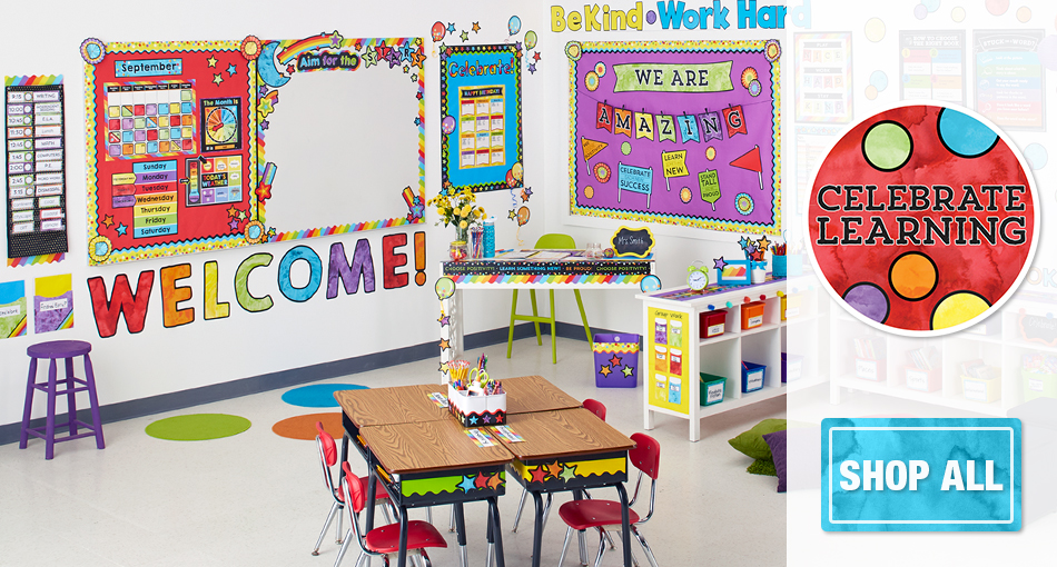 celebrate learning classroom decorations