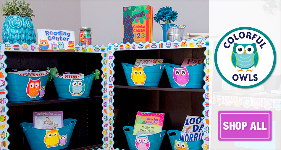 Colorful Owls Classroom Collection