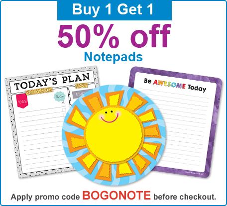 Buy 1 Get 1 50% Off Notepads