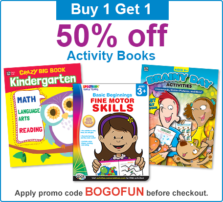 Exclusive online offers promotions and sales buy 1 get 1 50 off activity books fandeluxe Gallery