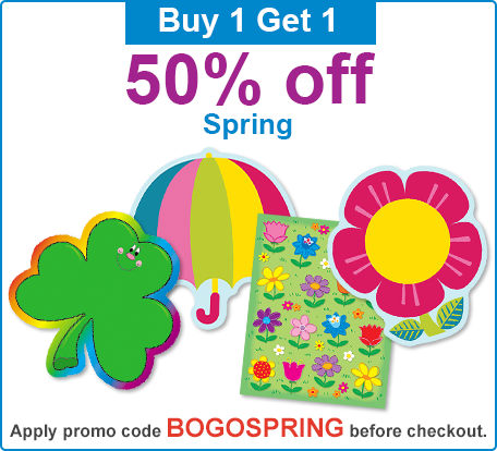 Buy 1 Get 1 50% Off Spring Items Promotion