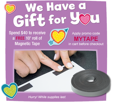 Free Magnetic Tape with $40 Purchase