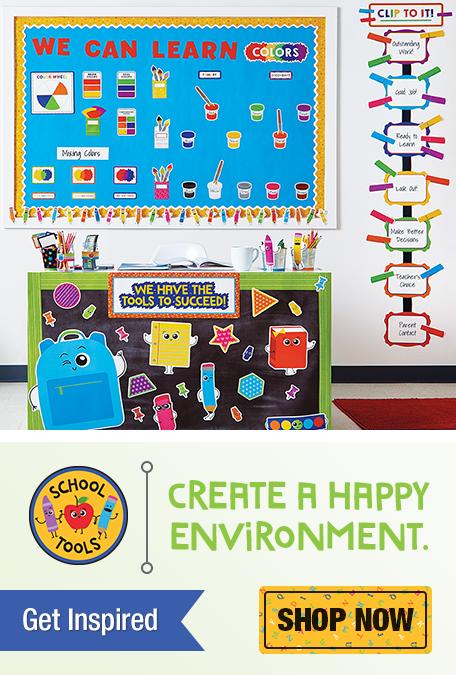 School Tools Classroom Decorations