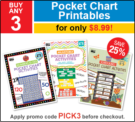 Pocket Chart Printables Deal